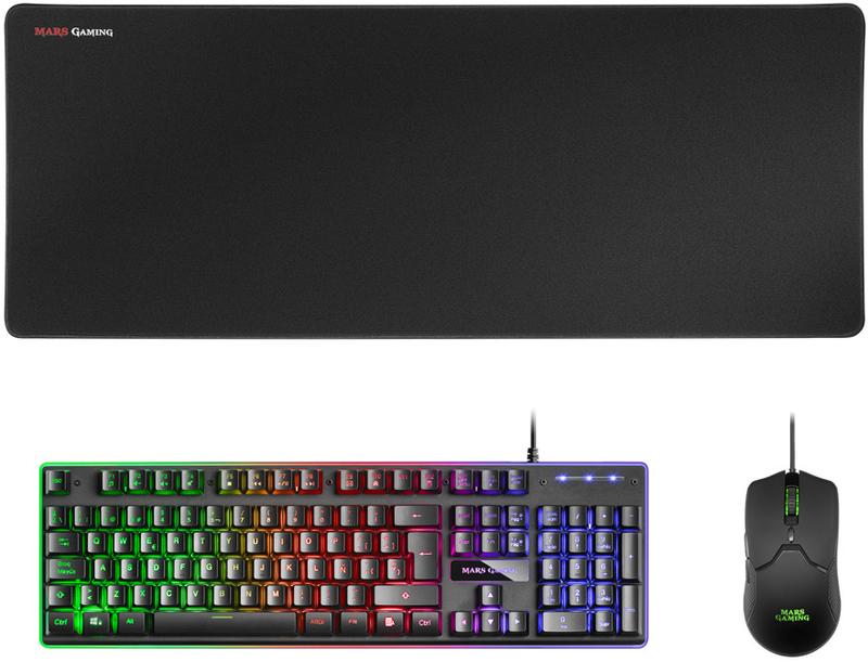 Teclado+Rato+Tapete XL Mars Gaming MCPX, RGB (PT)