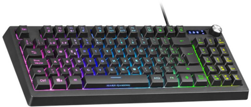 Mars Gaming - Teclado Mars Gaming MKREVO, TKL Compacto, H-Mechanical, RGB (PT)