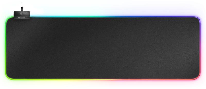 Mars Gaming - Tapete Mars Gaming MMPRGB2 XXL, RGB Chroma 12 modos, 2xUSB2.0 HUB 800 x 300 x4 mm