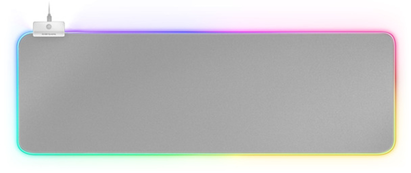 Mars Gaming - Tapete Mars Gaming MMPRGB2 XXL, RGB Chroma 12 modos, 2xUSB2.0 HUB 800 x 300 x4 mm - Silver