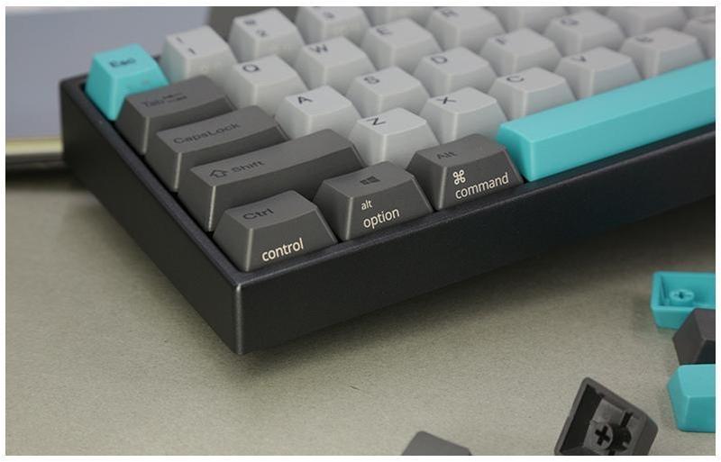 Ducky - Teclado Ducky MIYA Pro Moonlight TKL PC/MAC MX Brown White LED 65%, PBT  - Mecânico (PT)