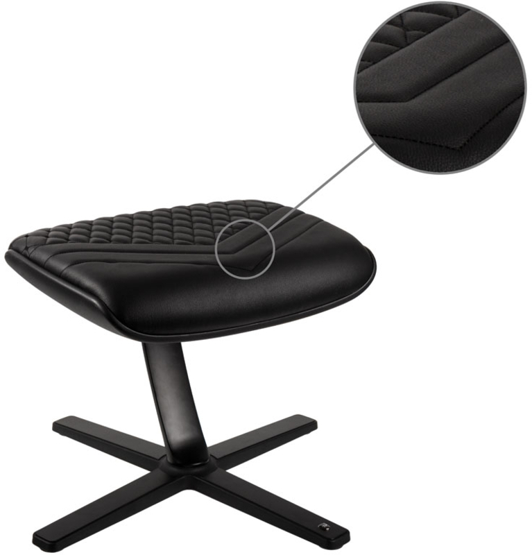 noblechairs - Apoio de Pés noblechairs Real Leather Preto
