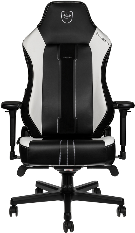 noblechairs - Cadeira noblechairs HERO PU Leather Preto / Branco - Limited Edition 2019