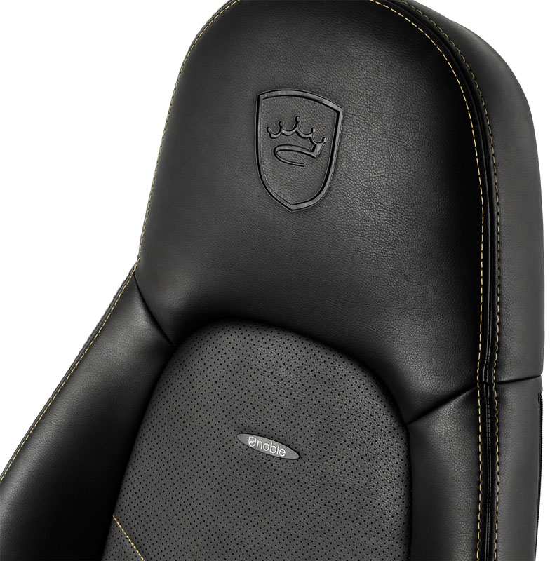 noblechairs - Cadeira noblechairs ICON PU Leather Preto / Dourado