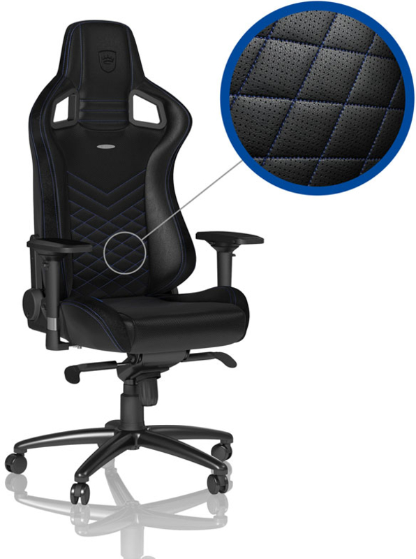 Cadeira noblechairs EPIC PU Leather Preto / Azul