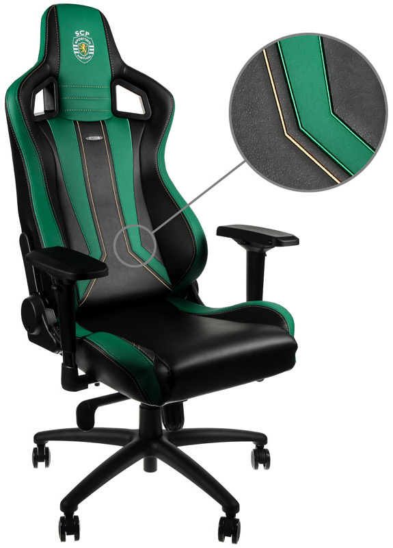 Cadeira noblechairs EPIC PU Leather Sporting Clube de Portugal Edition
