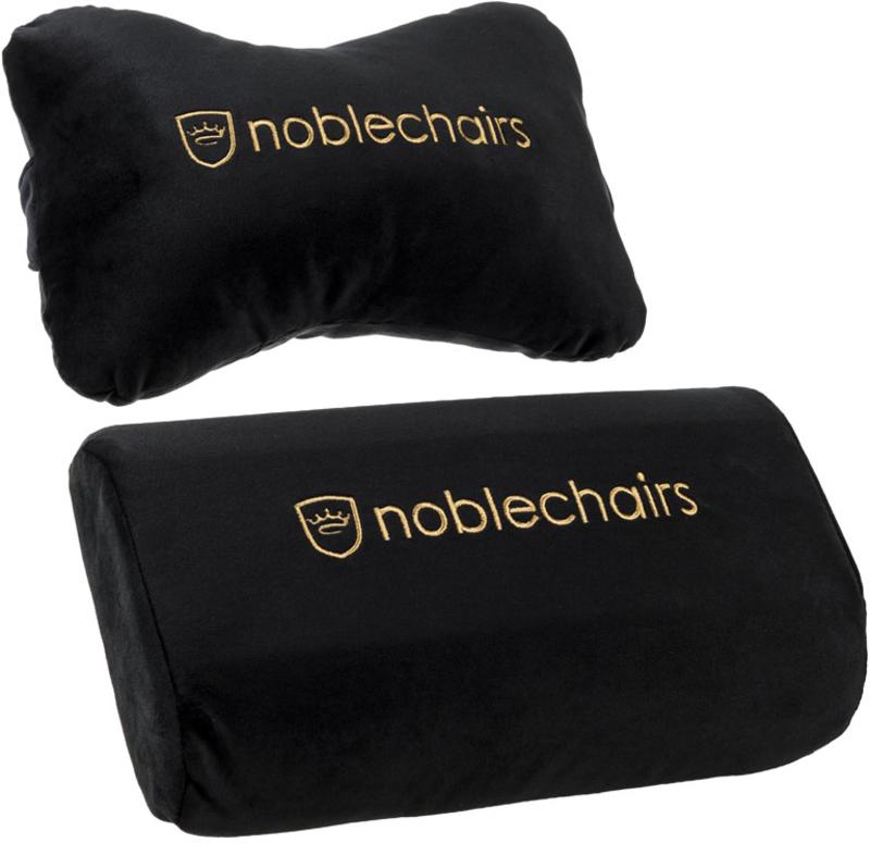 Set de Almofadas noblechairs para EPIC/ICON/HERO Preto / Dourado