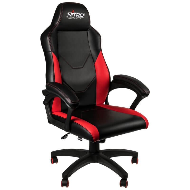 Cadeira Nitro Concepts C100 Gaming Preto / Vermelho