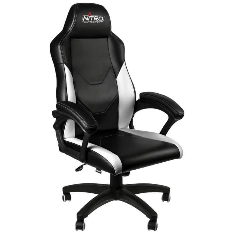 Nitro Concepts - Cadeira Nitro Concepts C100 Gaming Preto / Branco