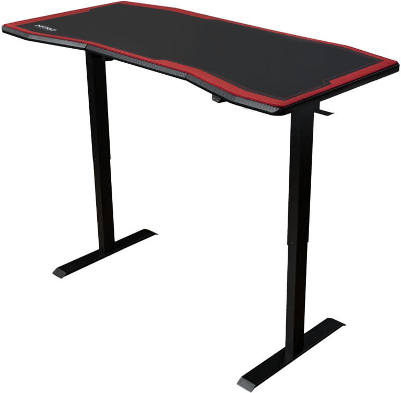 Nitro Concepts - Secretária Gaming Nitro Concepts D16E Carbon Red - Elétrica