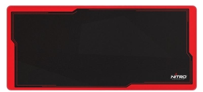 Tapete Nitro Concepts Deskmat Preto/Vermelho (900x400mm)