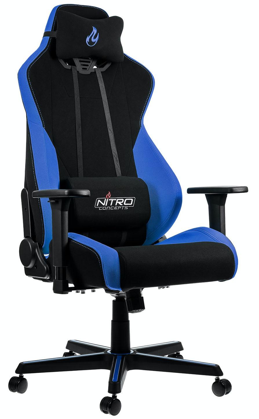 ** B Grade ** Cadeira Nitro Concepts S300 Gaming Preta / Azul