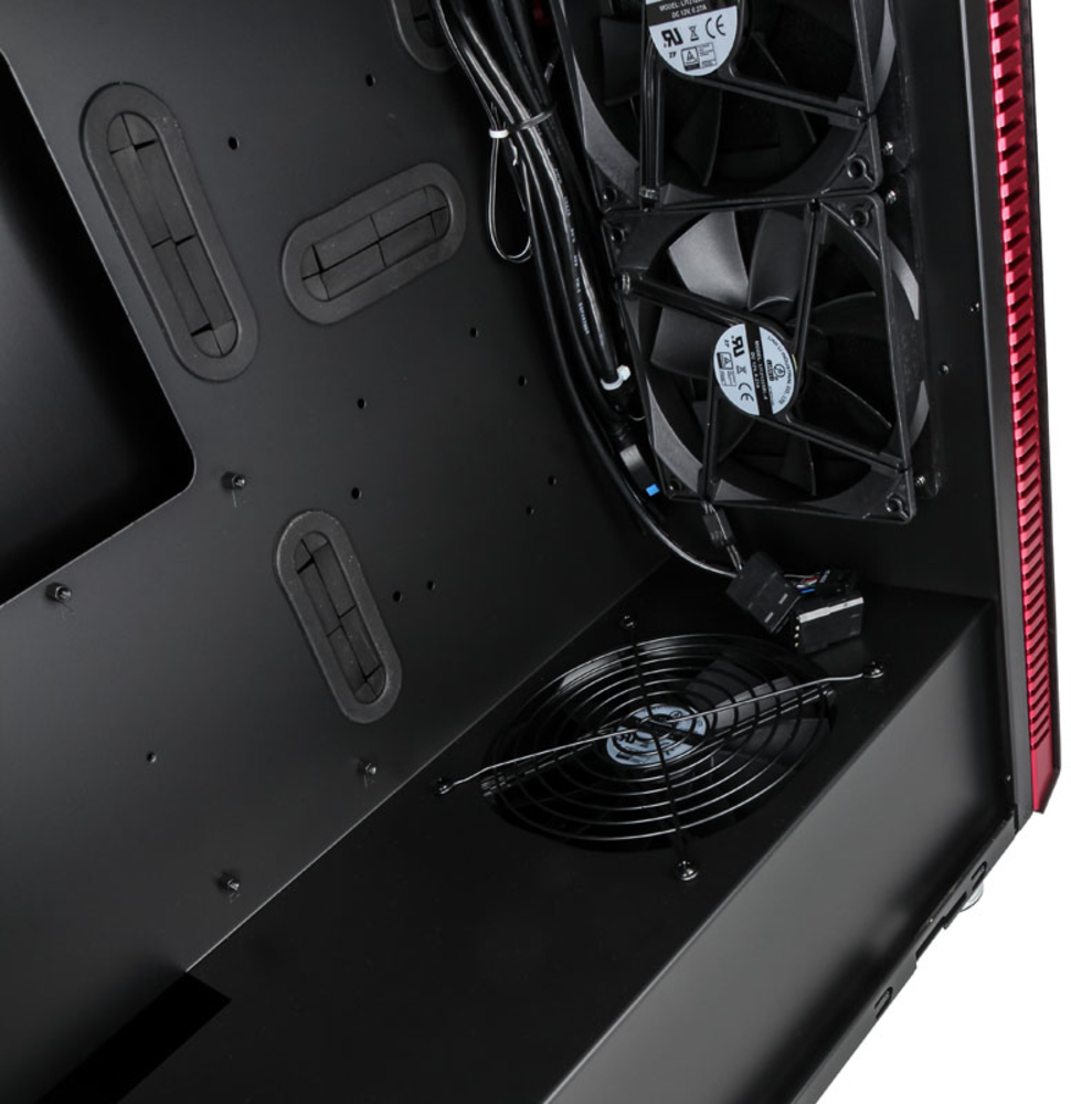 Lian Li - Caixa ATX Lian Li PC-J60WRX Preto / Vermelho Janela Acrílica