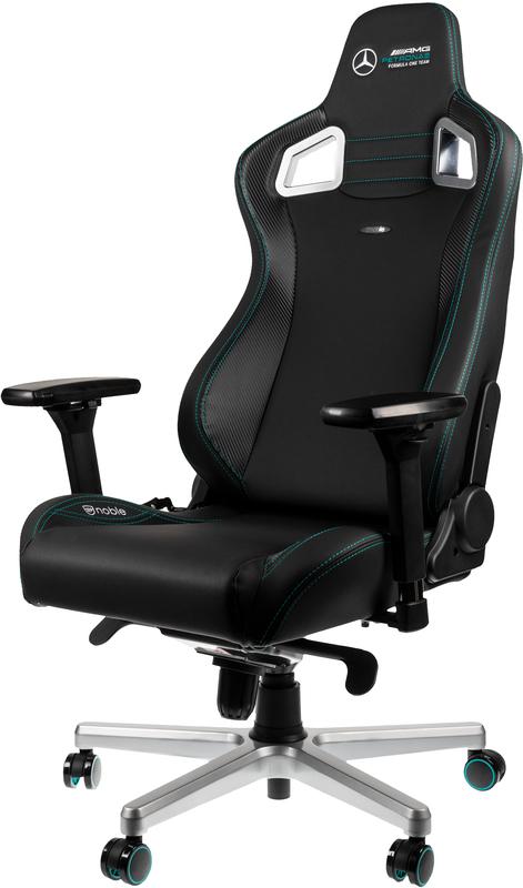 noblechairs - Cadeira noblechairs EPIC PU Leather Mercedes-AMG Petronas Formula One Team