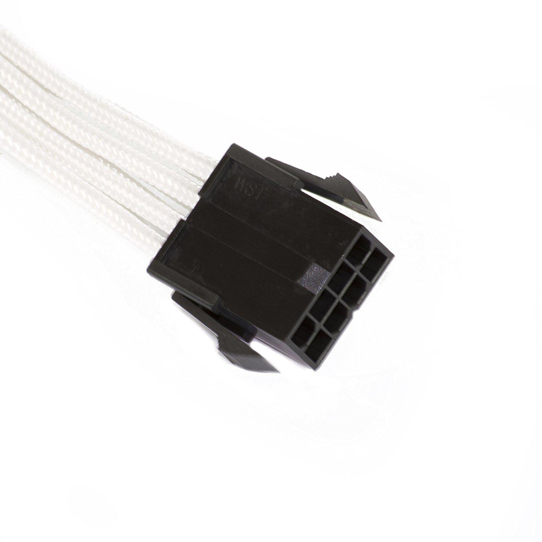 Phanteks - Cabo PSU Phanteks Sleeved 8-Pin EPS12V 50cm Branco