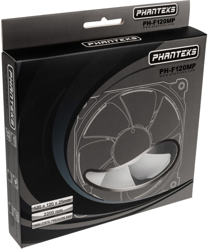 Phanteks - Ventoinha Phanteks PH-F120MP V2 Preto/Branco - 120mm