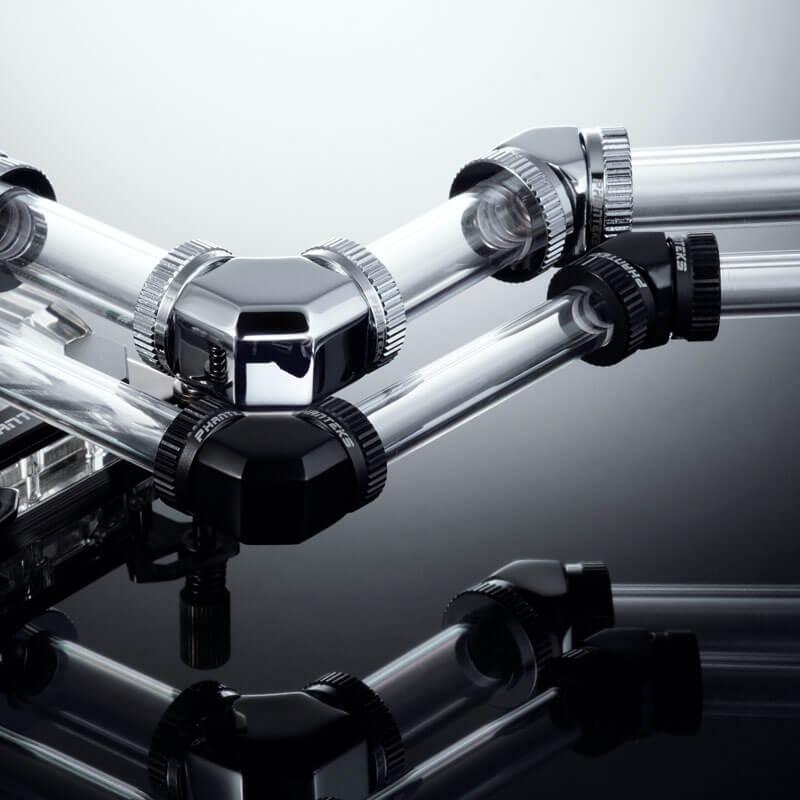 Phanteks - Conector 90º Phanteks G1/4 16mm - Cromado