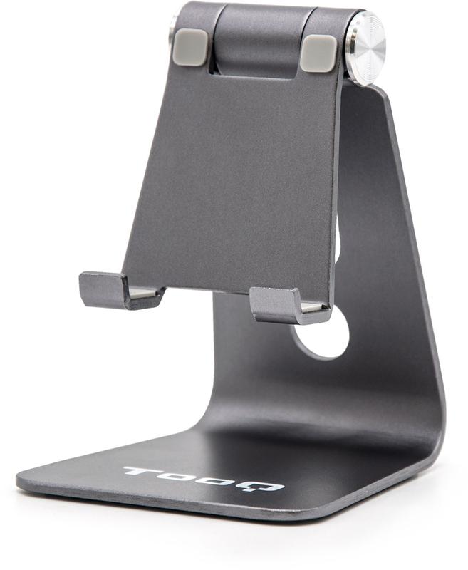 Suporte de Mesa Tooq Ajustável para Smarphone/Tablet Prateado