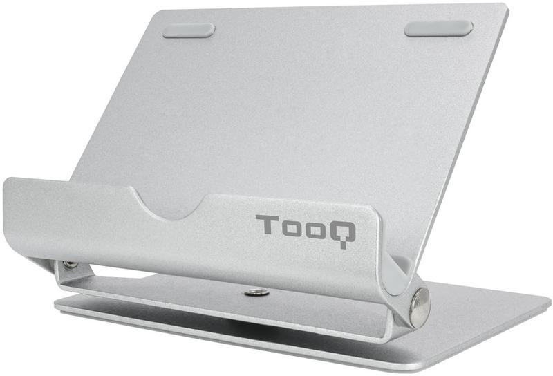 Suporte de Mesa Tooq Ajustável e Giratório para Smarphone/Tablet Prateado