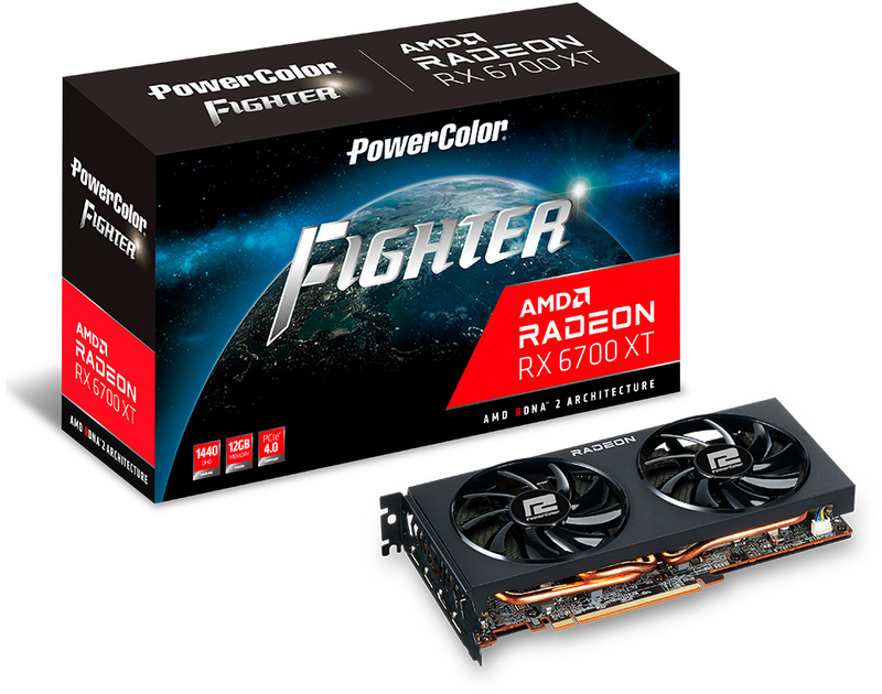Gráfica PowerColor Radeon RX 6700 XT Fighter 12GB GD6
