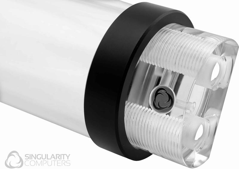 Singularity - Reservatório Singularity Computers Protium 150 mm - Acrílico Preto