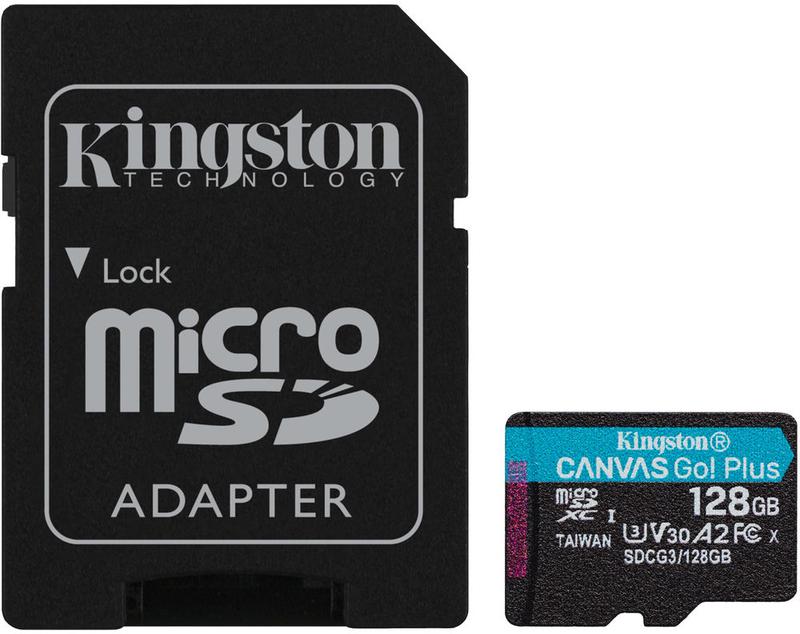 Cartão Kingston Canvas Go! Plus MicroSDXC UHS-I U3 V30 A2 128GB