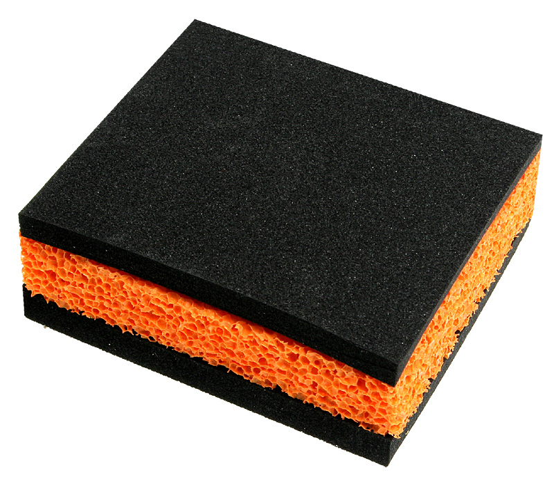 Base Anti Vibrações ModMyMachine Shoggy Sandwich V2 Preto / Laranja