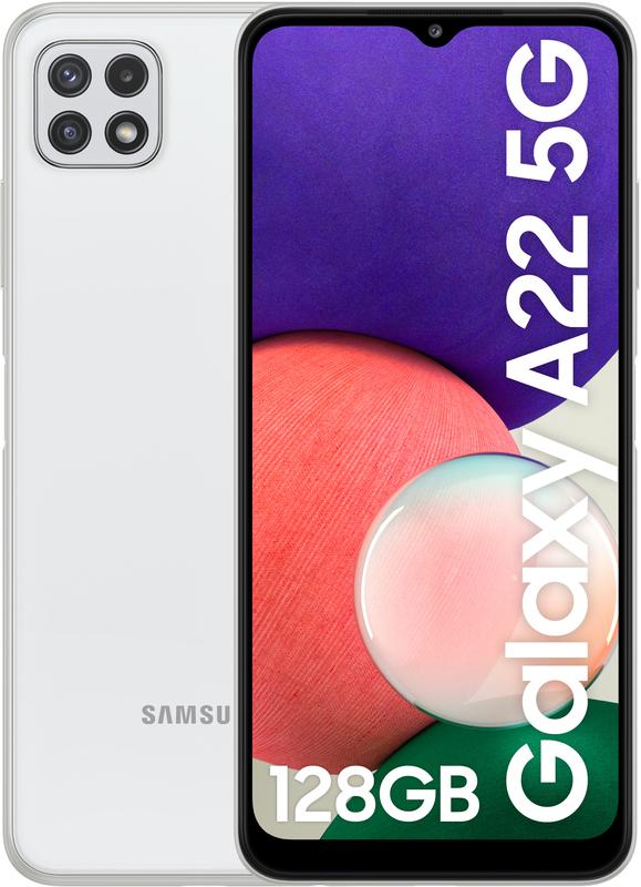"Samsung - Smartphone Samsung Galaxy A22 5G 6.6"" (4 / 128GB) 90Hz Branco"