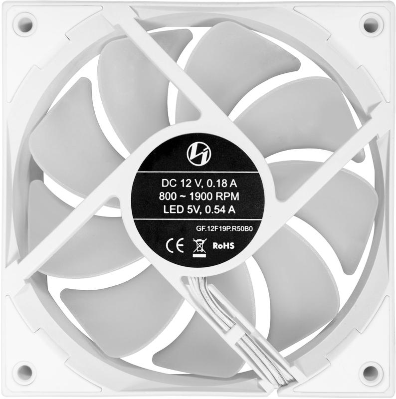 Lian Li - Ventoinha Lian Li ST120 RGB PWM Pack 3 + Controlador Branco 120mm