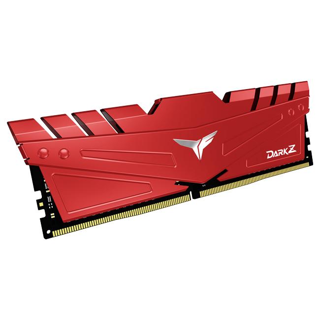 Team Group - Team Group Kit 16GB (2 x 8GB) DDR4 3200MHz Dark Z Red CL16
