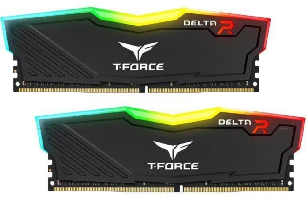 Team Group - Team Group Kit 32GB (2 x 16GB) DDR4 3200MHz Delta Preto RGB CL16