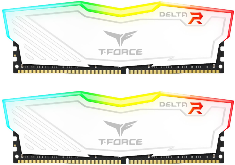 Team Group - Team Group Kit 16GB (2 x 8GB) DDR4 3000MHz Delta Branco RGB CL16