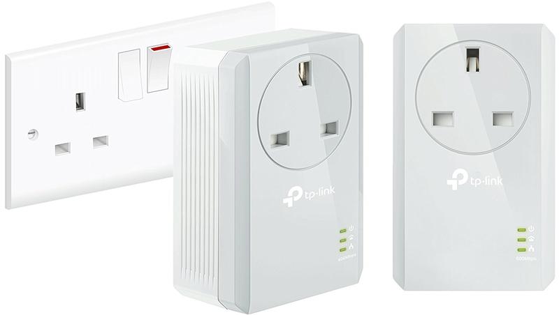 Powerline TP-Link AV600 Nano PLC Passthrough 1-Port Kit