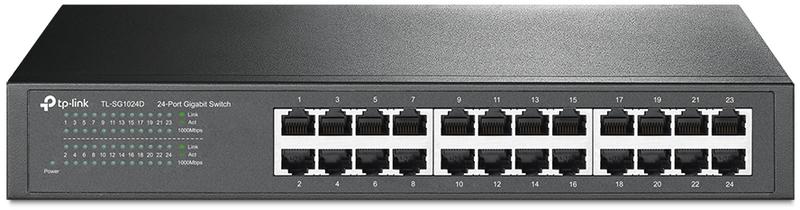 "Switch TP-Link TL-SG1024D 24 Portas Gigabit 13"" Rack 1U"