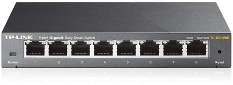 Switch TP-Link TL-SG108E 8 Portas Gigabit Easy Smart