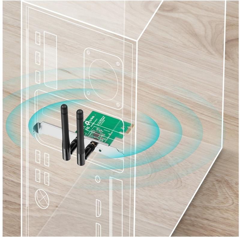 TP-Link - Placa de Rede TP-Link TL-WN881ND WiFi N300 PCIe