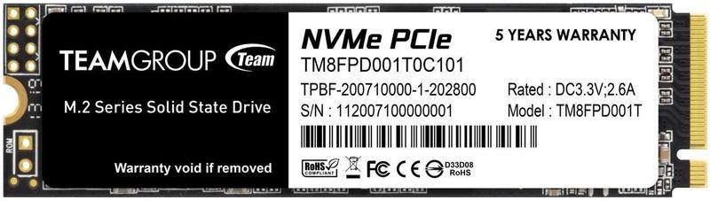 Team Group - Disco SSD Team Group MP33 PRO 1TB M.2 NVMe