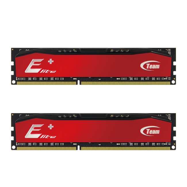 Team Group - Team Group Kit 8GB (2 x 4GB) DDR3 1600MHz Elite Plus Vermelho CL11