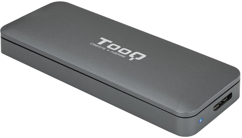 Caixa SSD Tooq M.2 NGFF - USB 3.1 Gen 1 Cinzenta