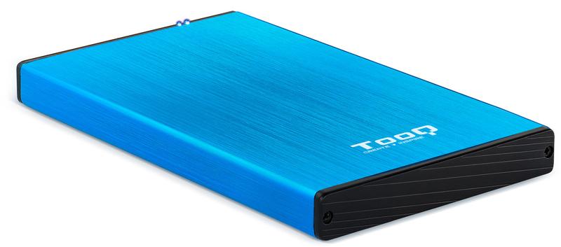 """Tooq - Caixa HDD Tooq 2.5"""" SATA (9,5mm) - USB 3.0 / 2.0 Azul Metalizado"""