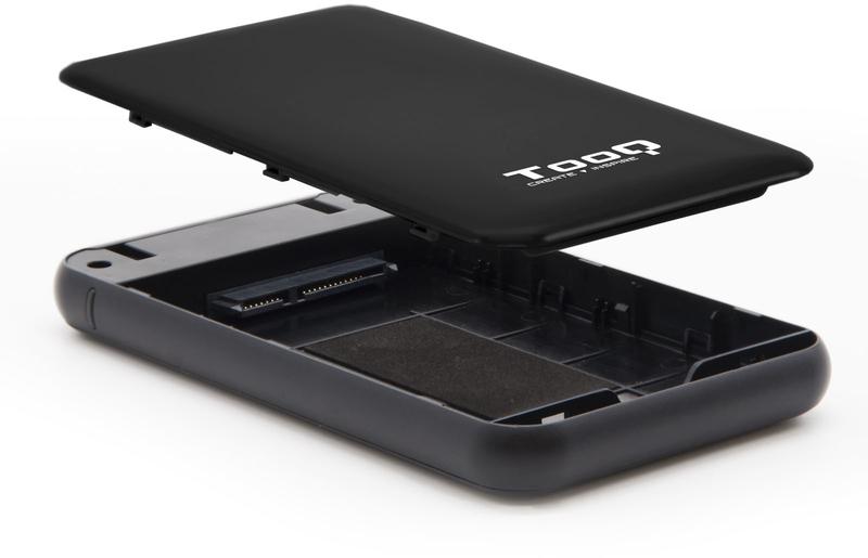 """Tooq - Caixa HDD Tooq 2.5"""" SATA (9,5mm) UASP Tool Less - USB 3.1 Gen 1 Preto"""