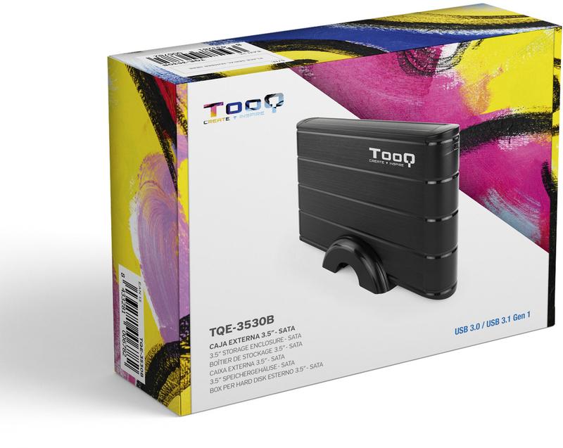 """Tooq - Caixa HDD Tooq 3.5"""" SATA LED - USB 3.0 Preto"""