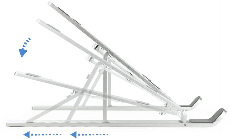 Tooq - Suporte Regulável Tooq para Portateis Aluminio