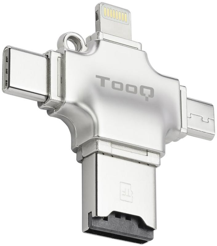 Tooq - Leitor de Cartões Micro SD Tooq Externo 4 em 1