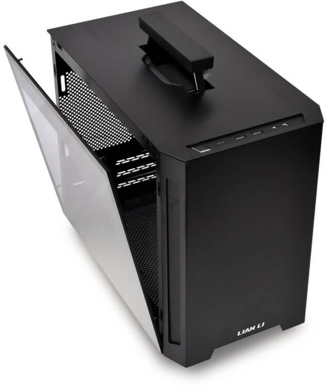 Lian Li - Caixa Mini-ITX Lian Li TU150WX, Vidro Temperado, Preta