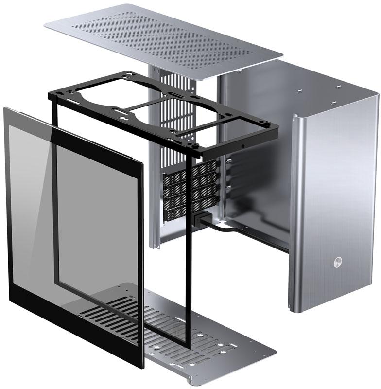 Jonsbo - Caixa Micro-ATX Jonsbo V9, Silver