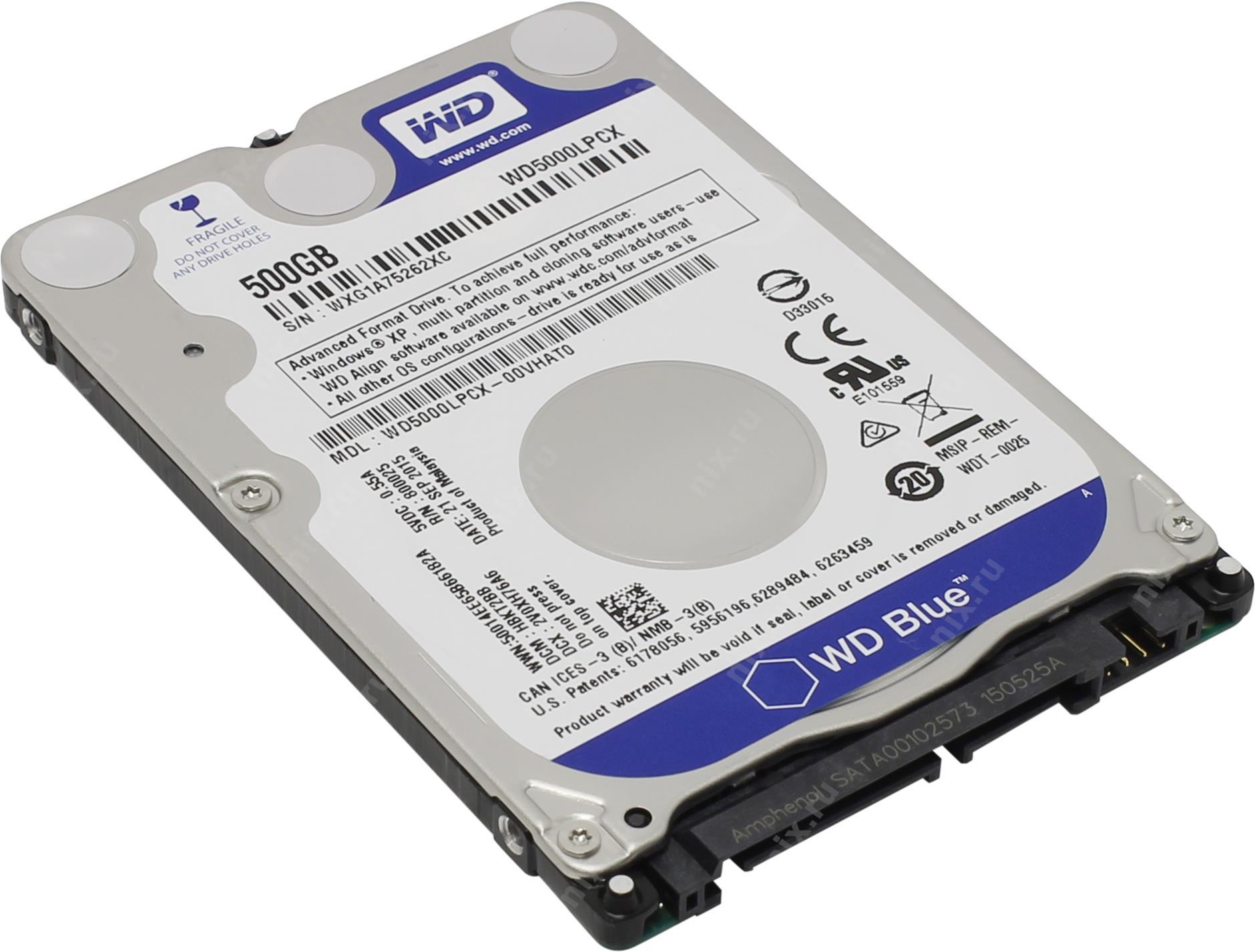 "Disco 2.5"" Western Digital Blue 500GB 5400rpm 16MB SATA III"