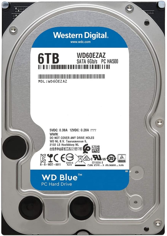Western Digital - Disco Western Digital Blue 6TB 5400rpm 256MB SATA III