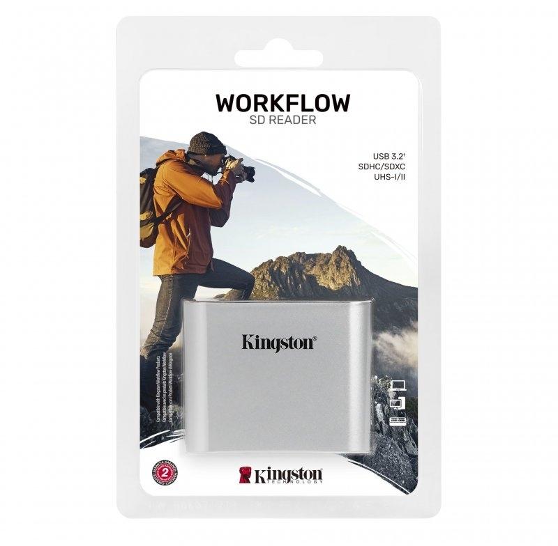 Kingston - Leitor de Cartões SD Kingston Workflow USB3.2 Gen1