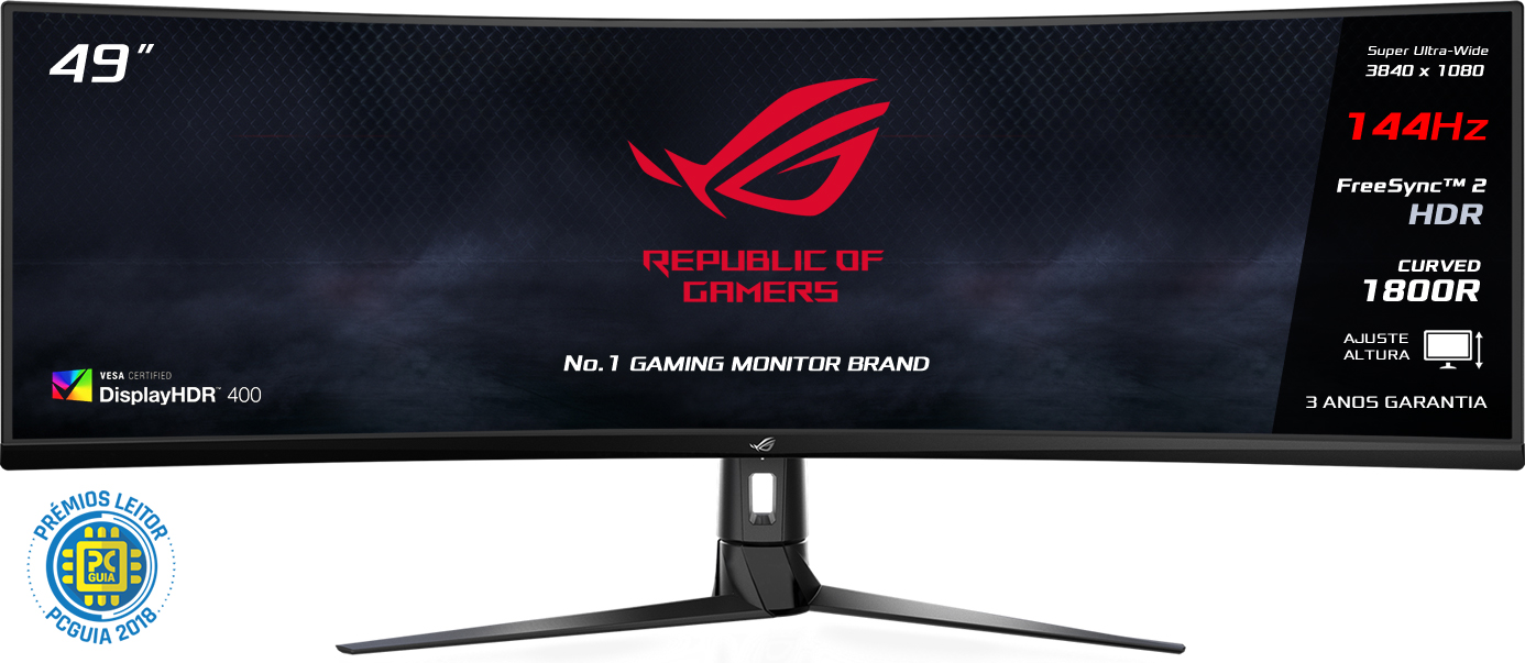 "Monitor Asus 49"" ROG STRIX XG49VQ Ultra-Wide 144hz HDR 4ms"